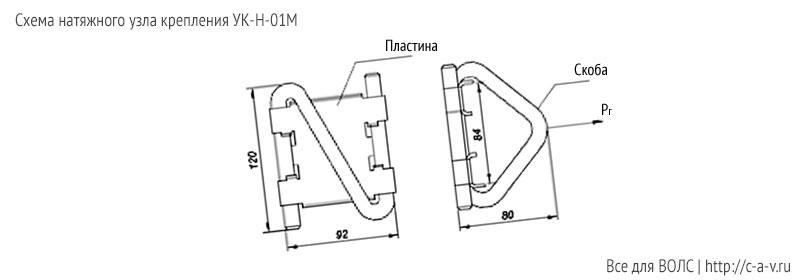 Схема натяжного узла крепления