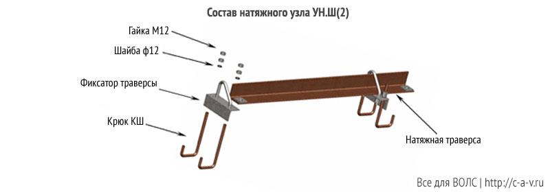 Состав натяжного узла УН.Ш(2)