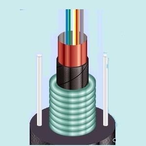 Оптический кабель с броней из гофрированной стальной ленты ОЦБгП
