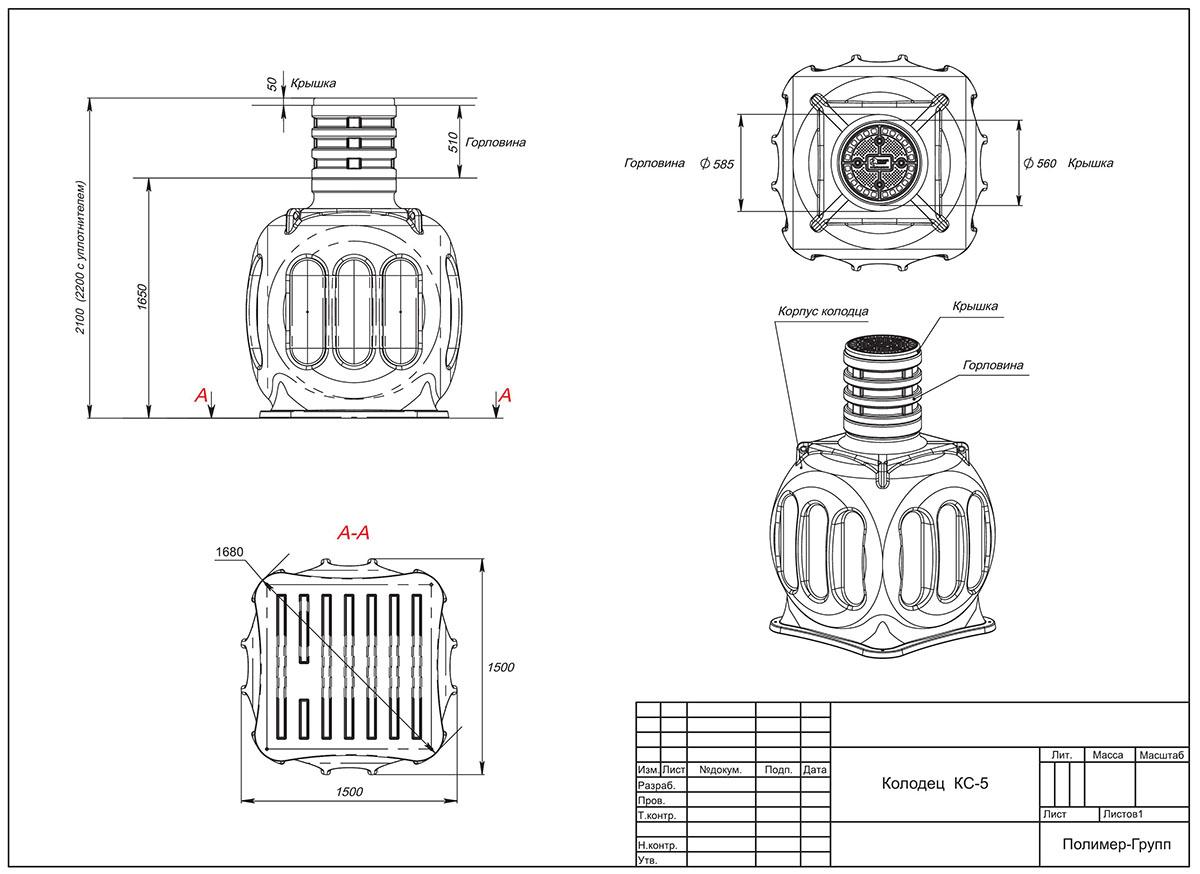 Горловина колодца связи железобетонные стойки св95 3