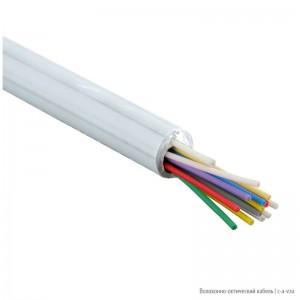 Hyperline FO-DPE-IN-9A1-16-LSZH-WH Кабель волоконно-оптический 9/125 (G657.А1) одномодовый, 16 волокон, плотное буферное покрытие (tight buffer), для внутренней прокладки, самонесущий, со свободными волокнами (FTTH), LSZH, –20°C – +60°C, белый