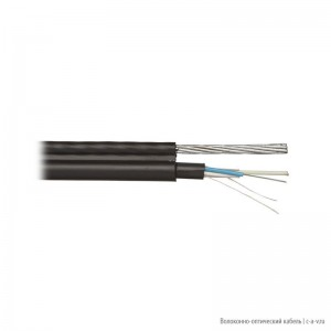 Hyperline FO-SSMT-OUT-50-8-PE-BK Кабель волоконно-оптический 50/125 (OM2) многомодовый, 8 волокон, с металлическим тросом (5 мм), multi loose tube, для внешней прокладки, PE, -40°C - +70°C, черный; гарантия: 15 лет компонентная; 25 лет системная