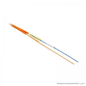 Hyperline FO-ZIP-IN-50-2-LSZH-OR (FO-ZIP-IN-50-2-LSZH) Кабель волоконно-оптический 50/125(OM2) многомод., 2 волок., плот. буф. покр. 0.9 мм (tight buffer), zip-cord, диам. кабеля 3.0мм, для внутр. прокл., LSZH IEC 60332-1, - 25°C - +75°C, оранж.