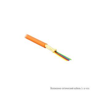 Teldor F50040441O (MTA-5-04HT-E-KH) Кабель волоконно-оптический 50/125 (OM2) многомодовый, 4 волокна, плотное буферное покрытие (tight buffer), для внутренней прокладки, HFFR, -25°C - +75°C, оранжевый