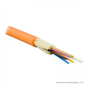 Teldor F50080807O (MTA-5-08/VT-D-KV) (95M355E08O) Кабель волоконно-оптический 50/125 (OM2) многомодовый, 8 волокон, плотное буферное покрытие (tight buffer), для внутренней прокладки, FR-PVC, -25°C - +75°C, оранжевый