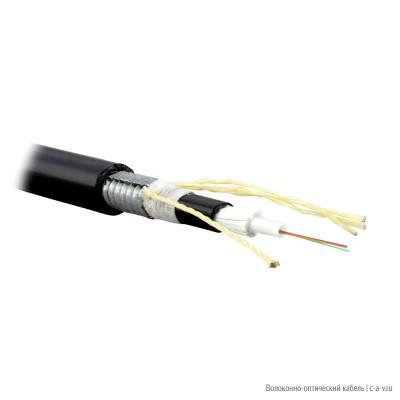 Teldor F60040128B (SLA-6-01-XO4-ZPRP-DD) (95L526X04B) Кабель волоконно-оптический 62.5/125 (OM1) многомодовый, 4 волокна, модули (loose tube), для внешней прокладки, бронированный стальной лентой, с защитой от грызунов, PE, -40°C - +70°C, черный