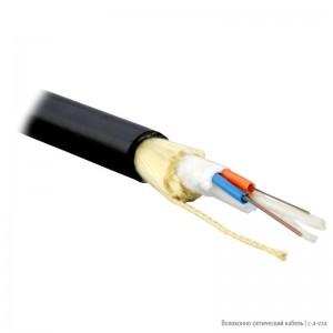 Teldor F60080201B (ADSB-6-02x04-D-KP-D) Кабель волоконно-оптический 62.5/125 (OM1) многомодовый, 8 волокон, модульная конструкция (loose tube), для внешней прокладки, самонесущий, PE, -40°C - +70°C, черный