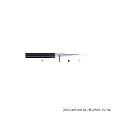 Belden GOSN804.002100 (GOSA804.002100) Кабель волоконно-оптический 9/125-OS2 одномодовый, 4 волокна, Central tube, для внешней прокладки, PE, -30°C - +70°C, чёрный