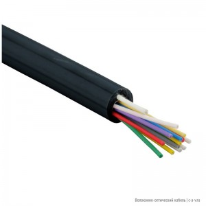 Hyperline FO-DPE-IN/OUT-9A1-12-LSZH-BK Кабель волоконно-оптический 9/125 (G657.А1) одномодовый, 12 волокон, tight buffer, внутренний/внешний, самонесущий, со свободными волокнами (FTTH), LSZH, –20°C – +60°C, черный