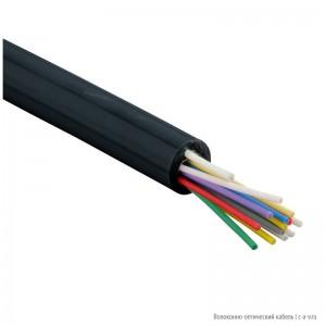 Hyperline FO-DPE-IN/OUT-9A1-2-LSZH-BK Кабель волоконно-оптический 9/125 (G657.А1) одномодовый, 2 волокна, tight buffer, внутренний/внешний, самонесущий, со свободными волокнами (FTTH), LSZH, –20°C – +60°C, черный