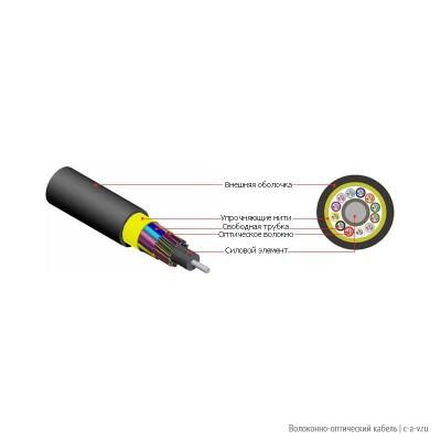 Hyperline FO-MB-IN/OUT-50-12-LSZH-BK Кабель волоконно-оптический 50/125 (OM2) многомодовый, 12 волокон, безгелевые микротрубки 0.9 мм (micro bundle), внутренний/внешний, LSZH IEC 60332-3, –40°C – +70°C, черный