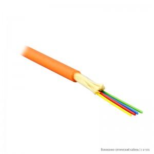 Teldor F50040411O (MTA-5-04VT-E-KV) (95M055E04O) Кабель волоконно-оптический 50/125 (OM2) многомодовый, 4 волокна, плотное буферное покрытие (tight buffer), для внутренней прокладки, FR-PVC, -25°C - +75°C, оранжевый