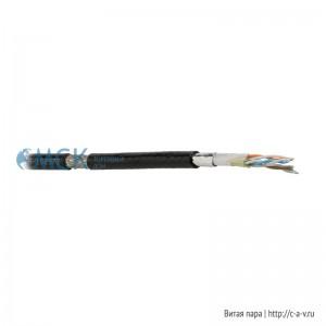 Teldor 9851217101 (500 м) Кабель витая пара, экранированная SF/UTP, категория 5е, 4 пары (24 AWG), многожильный (patch), экран - фольга + медная оплетка, внешний, тактический военный, FRZH-PU IEC 60332-1, -40°C - + 70°C, черный (цена за 1 м)