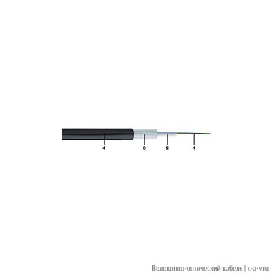 Belden GORN804.002100 Кабель волоконно-оптический 9/125 (G652D) одномодовый, 4 волокна, central loose tube, гелиевый, с защитой от грызунов (стекловолокно или нейлон), для внешней прокладки, PE, -30°C - +70°C, черный, аналог A-DQ(ZN)B2Y