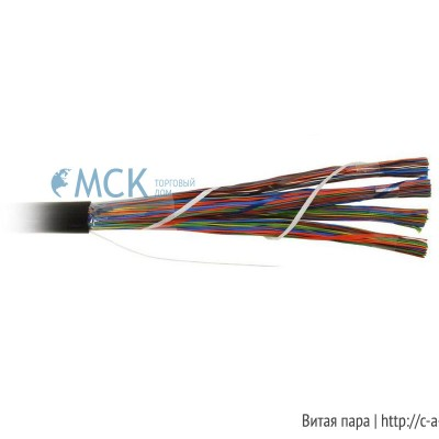 Teldor 7552100129W050T (T50100002G) (75N2100129) (T50100002B W050T) Кабель витая пара, неэкранированная U/UTP, категория 3, 100 пар (25 пар(24 AWG)х4), одножильный (solid), центральный силовой элемент, FR-PVC, -10°C - +50°C, светло-серый
