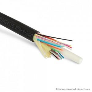 Teldor F90242411B (MTA-9-24HT-D-KH-D) Кабель волоконно-оптический 9/125 одномодовый, 24 волокна, плотное буферное покрытие (tight buffer), внутренний/внешний, HFFR, -40°C - +70°C, черный
