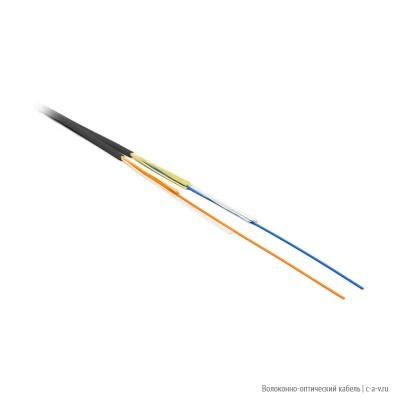 Hyperline FO-ZIP-IN-503-2-FRPVC-BK Кабель волоконно-оптический 50/125 (OM3) многомодовый, 2 волокна, плотное буферное покрытие 0.9 мм (tight buffer), zip-cord, диаметр кабеля 2.8 мм, для внутренней прокладки, PVC, - 25°C - +75°C, черный