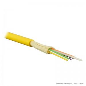 Teldor F90121223Y (MTA-9-12VT-D-KV) (95M359A12Y) Кабель волоконно-оптический 9/125 одномодовый, 12 волокон, плотное буферное покрытие (tight buffer), для внутренней прокладки, FR-PVC, -25°C - +75°C, желтый