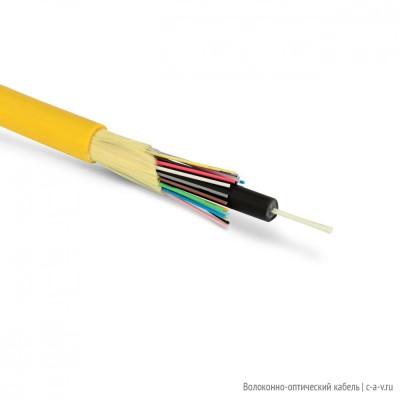 GO GJPFJV-16C Кабель волоконно-оптический 9/125 (OS2) одномодовый, 16 волокон, для внутренней прокладки, PVC, желтый