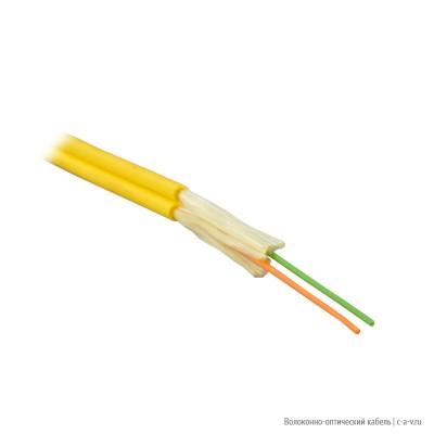 PANDUIT FPFL902 Кабель волоконно-оптический 9/125 (OS1) одномодовый, zip cord, для внутренней прокладки, 2 волокна, диаметр 1,6 мм, LSZH, желтый
