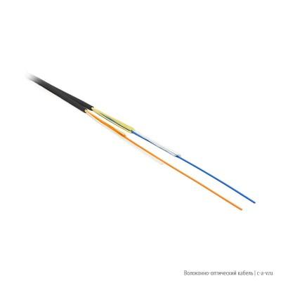 Hyperline FO-ZIP-IN-62-2-FRPVC-BK Кабель волоконно-оптический 62.5/125 многомодовый, 2 волокна, плотное буферное покрытие 0.9 мм (tight buffer), zip-cord, диаметр кабеля 2.8 мм, для внутренней прокладки, PVC, - 25°C - +75°C, черный
