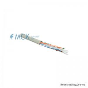Hyperline UUTP4-C6-S23-IN-PVC-GY-88 (UTP4-C6-SOLID-GY-88) (88 м) Кабель витая пара, неэкранированная U/UTP, категория 6, 4 пары (23 AWG), одножильный (solid), с разделителем, PVC, –20°C – +75°C, серый - гарантия: 15 лет компонентная; 25 лет системная
