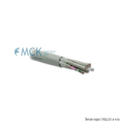 Hyperline FUTP24-C5E-S24-IN-PVC-GY (FTP24-C5e-SOLID-INDOOR) Кабель витая пара F/UTP, категория 5e, 24 пары(4 пары(24 AWG)х6), одножильный(solid), центральный силовой элемент, каждый 4-х парник: экран - фольга и PVC оболочка, PVC, -20°С-+60°С, серый