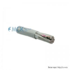 Hyperline FUTP48-C5E-S24-IN-PVC-GY (FTP48-C5e-SOLID-INDOOR) Кабель витая пара, экранированная F/UTP, категория 5e, 48 пар (4 пары (24 AWG)х12), одножильный (solid), каждый 4х парник в фольге, PVC, -20°С - +60°С, серый