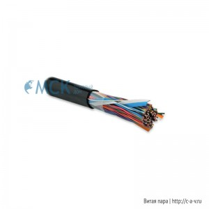 Hyperline UUTP50-C3-S24-OUT-PE-BK (UTP50-C3-SOLID-OUTDOOR) Кабель витая пара, неэкранированная U/UTP, категория 3, 50 пар (24 AWG), одножильный (solid), внешний, UV PE, -40°C - +50°C, черный