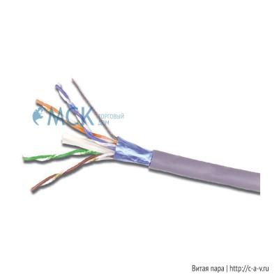 Siemon 9A6L4-A5-5CR (500 м) Кабель витая пара, экранированная F/UTP, категория 6A, 4 пары (23 AWG), одножильный (solid), с разделителем, LSOH-1 (IEC 60332-1), -20°C - +75°C, фиолетовый