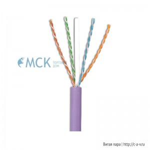 Siemon 9C6L4-A5 (305 м) Кабель витая пара, неэкранированная U/UTP, категория 6A, 4 пары (23 AWG), одножильный (solid), с разделителем, LSOH-1 (IEC 60332-1), -20°C - +60°C, фиолетовый