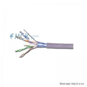 Siemon 9A6M4-A5-5CR (K) (500 м) Кабель витая пара, экранированная F/UTP, категория 6A, 4 пары (23 AWG), одножильный (solid), с разделителем, PVC (CM, IEC 60332-1), -20°C - +75°C, серый