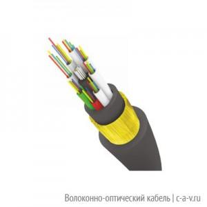 Трансвок ОКМС-1/5(2,0)Сп-4(2) (4,0кН) Кабель волоконно-оптический 9.5/125 одномодовый, 4 волокона, магистральный, самонесущий, со стеклонитями, с двумя оболочками, для подвески на опорах контактной сети, черный