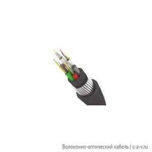 Трансвок ОКБ-2/4(2.4)Сп-8(2) (7кН) Кабель волоконно-оптический 9/125 одномодовый, 8 волокон, с броней из стальной круглой проволоки, модульной конструкции, для прокладки в грунтах всех категорий, черный