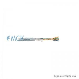 Belden 1633E.00305 (305 м) Кабель витая пара, экранированная F/UTP, категория 5e, 4 пары (24 AWG), одножильный (solid), экран - фольга, PVC, -30°С - + 60°С, серый