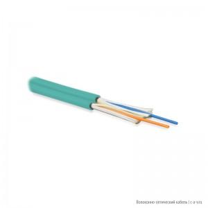 Hyperline FO-D2-IN-503-2-LSZH-AQ Кабель волоконно-оптический 50/125 (OM3) многомодовый, 2 волокна, duplex, zip-cord, плотное буферное покрытие (tight buffer) 2.0 мм, для внутренней прокладки, LSZH, аква