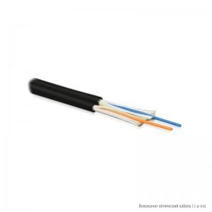 Hyperline FO-D2-IN-62-2-LSZH-BK Кабель волоконно-оптический 62.5/125 (OM1) многомодовый, 2 волокна, duplex, zip-cord, плотное буферное покрытие (tight buffer) 2.0 мм, для внутренней прокладки, LSZH, черный