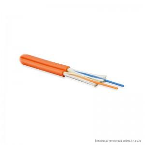 Hyperline FO-D3-IN-50-2-LSZH-OR Кабель волоконно-оптический 50/125 (OM2) многомодовый, 2 волокна, duplex, zip-cord, плотное буферное покрытие (tight buffer) 3.0 мм, для внутренней прокладки, LSZH, оранжевый