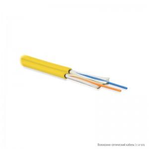 Hyperline FO-D3-IN-9-2-LSZH-YL Кабель волоконно-оптический 9/125 (OS2) одномодовый, 2 волокна, duplex, zip-cord, плотное буферное покрытие (tight buffer) 3.0 мм, для внутренней прокладки, LSZH, желтый