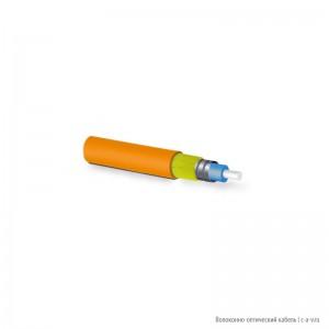 Hyperline FO-SA-IN-50-1-LSZH-OR (FO-D-IN-50-1-ARM-LSZH-OR) Кабель волоконно-оптический 50/125 (OM2) многомодовый, 1 волокно, плотное буферное покрытие (tight buffer) 0.6 мм, бронированный, гибкий, внутренний, LSZH, –40°C – +80°C, оранжевый