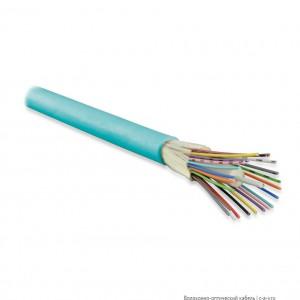 Hyperline FO-DT-IN-503-12-PVC-AQ (FO-D-IN-503-12-FRPVC) Кабель волоконно-оптический 50/125 (OM3) многомодовый, 12 волокон, плотное буферное покрытие (tight buffer), для внутренней прокладки, PVC, -25°C - +75°C, голубой (aqua)