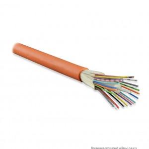 Hyperline FO-DT-IN-50-4-LSZH-OR (FO-D-IN-50-4-HFFR) Кабель волоконно-оптический 50/125(OM2) многомодовый, 4 волокна, плотное буферное покрытие (tight buffer), для внутренней прокладки, LSZH IEC 60332-1, -40°C - +75°C, оранжевый