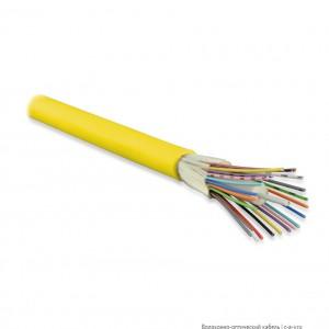 Hyperline FO-DT-IN-9-4-PVC-YL (FO-D-IN-9-4-FRPVC) Кабель волоконно-оптический 9/125 (OS2) одномодовый, 4 волокна, плотное буферное покрытие (tight buffer), для внутренней прокладки, PVC, -25°C - +75°C, желтый