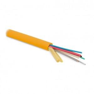 Hyperline FO-MB-IN-50-12-LSZH-OR Кабель волоконно-оптический 50/125(OM2) многомодовый, 12 волокон, безгелевые микротрубки 0.9 мм (micro bundle), для внутренней прокладки, LSZH IEC 60332-3, –20°C – +70°C, оранжевый