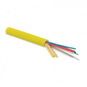 Hyperline FO-MB-IN-9-48-LSZH-YL Кабель волоконно-оптический 9/125(OS2) одномодовый, 48 волокон, безгелевые микротрубки 1.1 мм (micro bundle), для внутренней прокладки, LSZH IEC 60332-3, –20°C – +70°C, желтый
