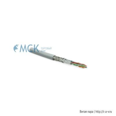 Hyperline SFUTP4-C5E-S24-IN-LSZH-GY (куски) Кабель витая пара SF/UTP, категория 5e, 4 пары (24 AWG), одножильный (solid), экран - фольга + медная оплетка, LSZH, –20°C – +75°C, серый - гарантия:15 лет компонентная; 25 лет системная
