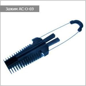 Анкерный клиновой зажим АС-0-69 для ВОК типа 8