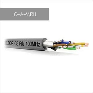 C5-F/U-24/1H - кабель витая пара, BASIC Solution, 5е категория, монтажный, F/UTP, 4 пары, 100 Мгц