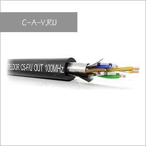 C5-F/U-24/1HOUT - кабель витая пара, BASIC Solution, 5е категория, для наружных работ, всепогодный, F/UTP, 4 пары, 100 Мгц