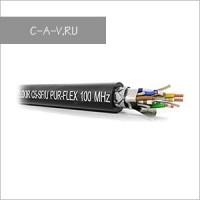 C5-SF/U-24/7HPUR - патч-кабель витая пара, OUTDOOR Solution, 5е категория, эластичный для работы внутри и вне помещений, SF/UTP (с общим плетеным экраном),  4 пары, 100 Мгц